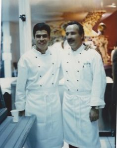 with Chef Daniel setting up for the opening at the Guadalajara unit