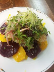 Marinated beets & Orange Salad with Treviso Salat