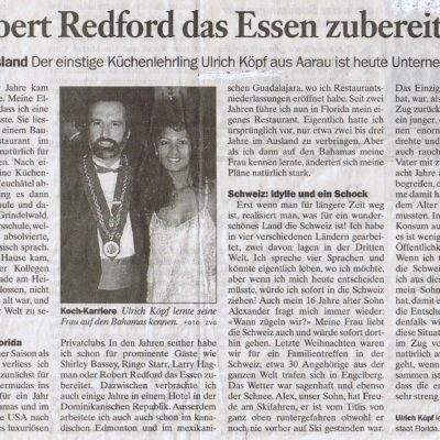 Featured in my Swiss Hometown Newspaper