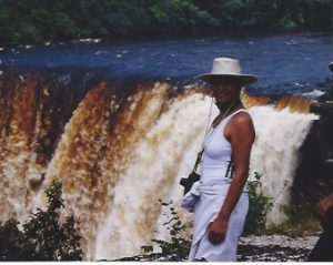 at Kaieteur Falls in Guyana
