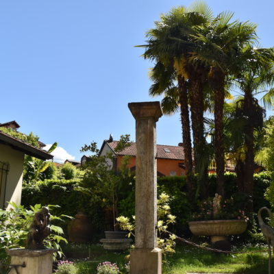 The lush garden at Bellerio Antichita
