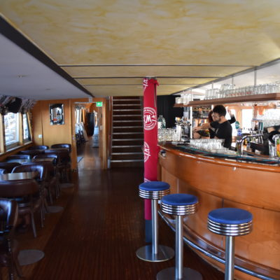 The bar on the Trinity Boat