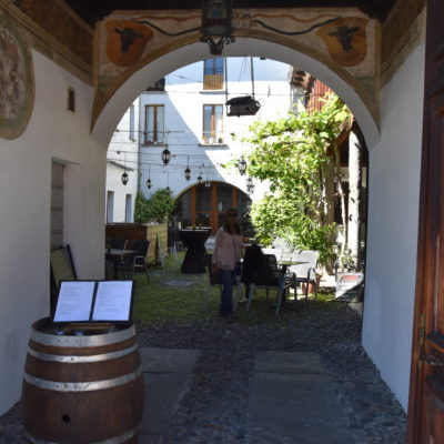 Casa del Negromante Courtyard Restaurant in the old part of town